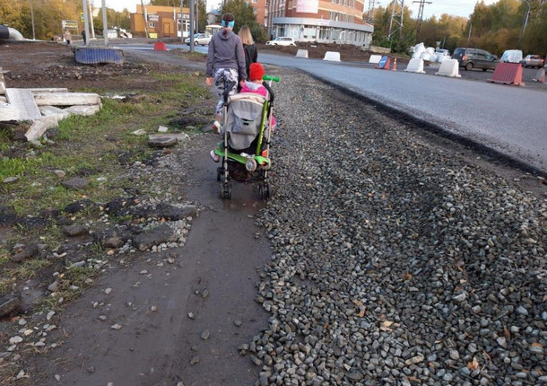 Томичи пожаловались на ремонт Мокрушинского переезда